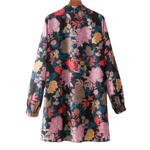 'Tonya' Colorful Floral Tunic Dress