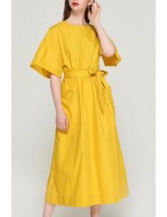 'Ainley' Oversized Yellow Dress