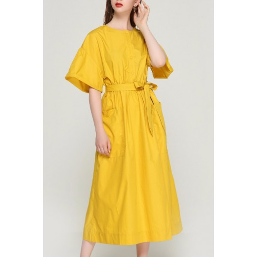 'Ainley' Oversized Yellow Dress