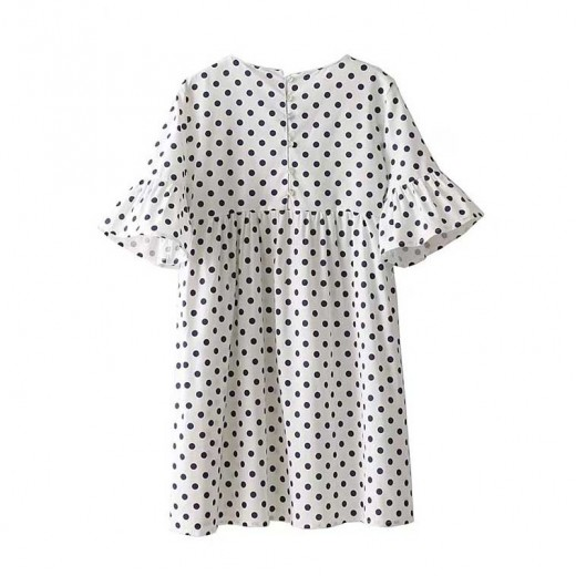 'Susan' Polka Dot Flattering Tunic Dress