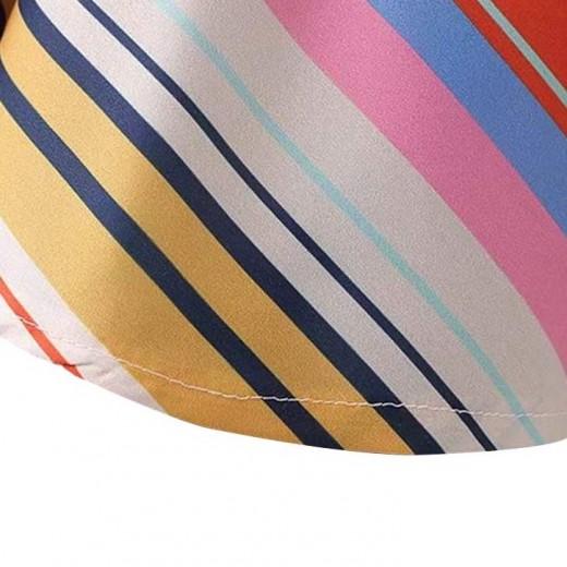 'Maritza' Striped One Shoulder Dress