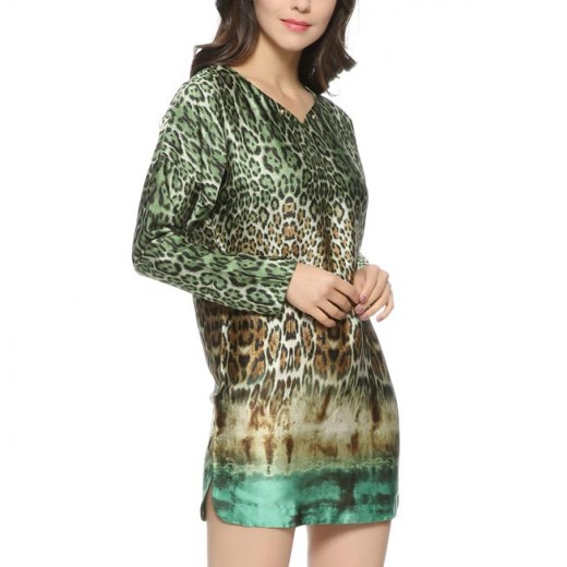 Multicolor Leopard Print Mini Dress
