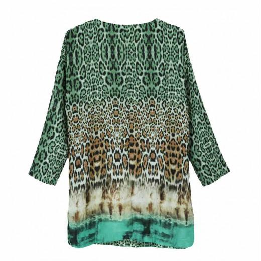 Multicolor Leopard Print Mini Dress