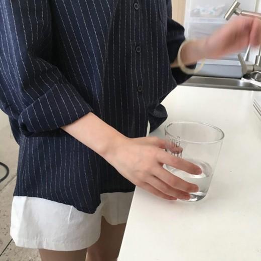 'Hayley' Striped Boyfriend Shirt