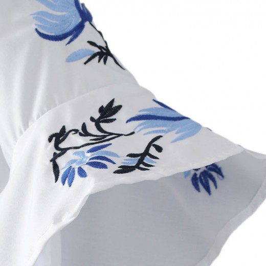 'Elvina' Bell Sleeve Floral Blouse