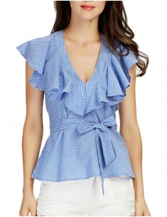 'Jalyn' Bow Tie Ruffled Blouse