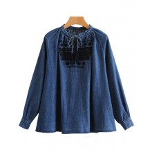 'Jeannine' Denim Oversized Blouse