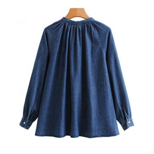 'Jeannine' Denim Oversized Blouse