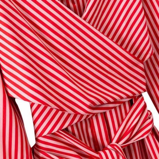 'Danae' Cross Tie Striped Shirt