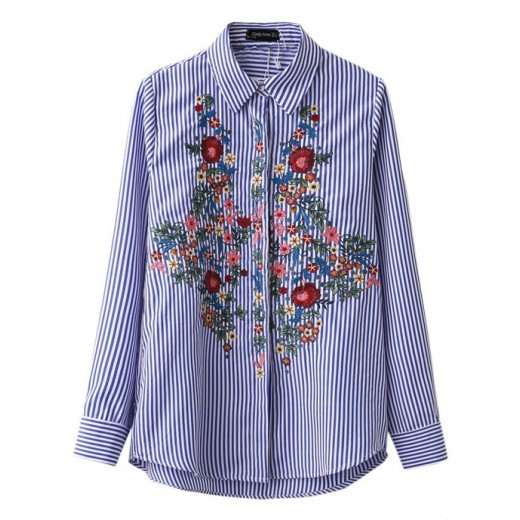 Embroidered Button-Down Shirt