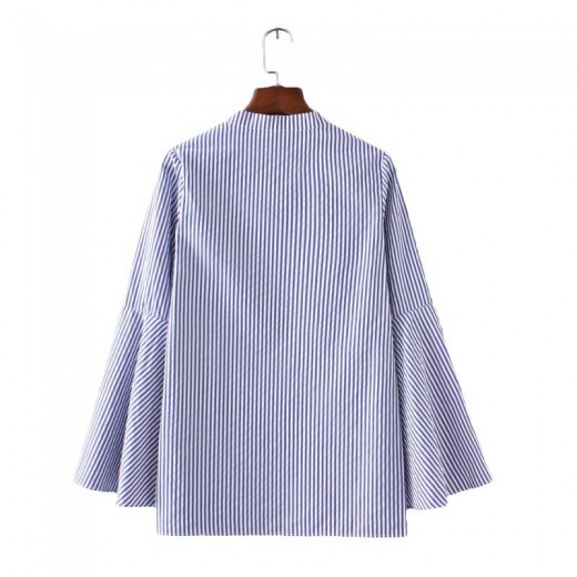 Bell Sleeve Striped Shirt