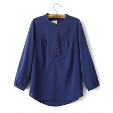 Three Quarter Sleeve Buttons Blouse