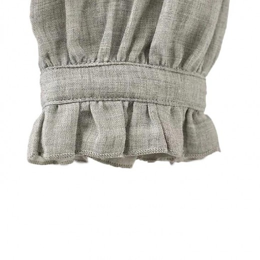 Ruffled Hem Embroidered Blouse