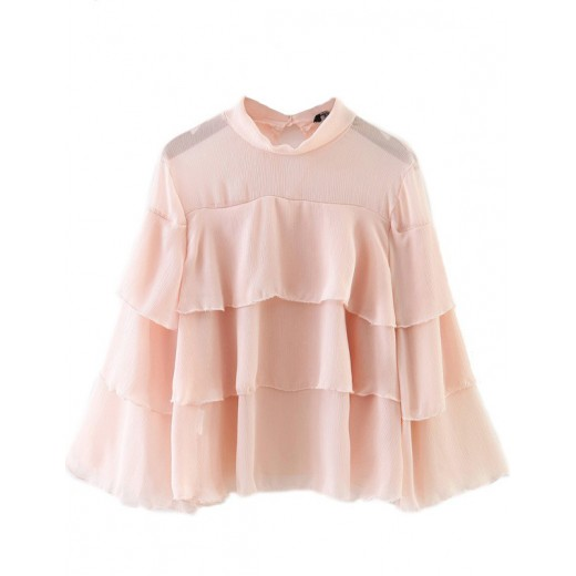 Transparent Ruffled Blouse