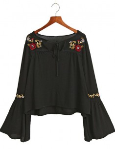 Bell Sleeve Bohemian Blouse