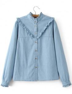 Button-Down Ruffle Shirt