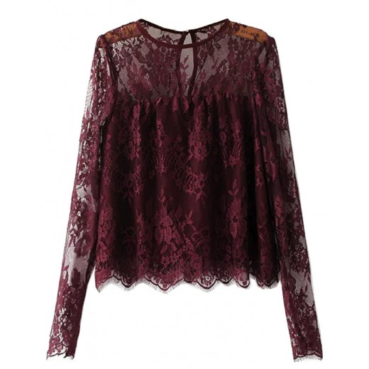 'Ella' Transparent Lace Blouse