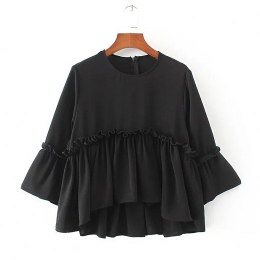'Edna' Bell Sleeve Flared Blouse