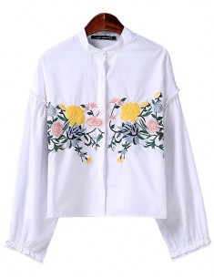 'Clara' Wide Sleeves Floral Blouse