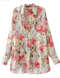 Amelia Sweet Floral Print Blouse