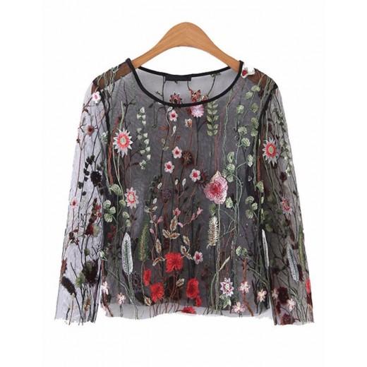 'Maxine' Mesh Floral Blouse