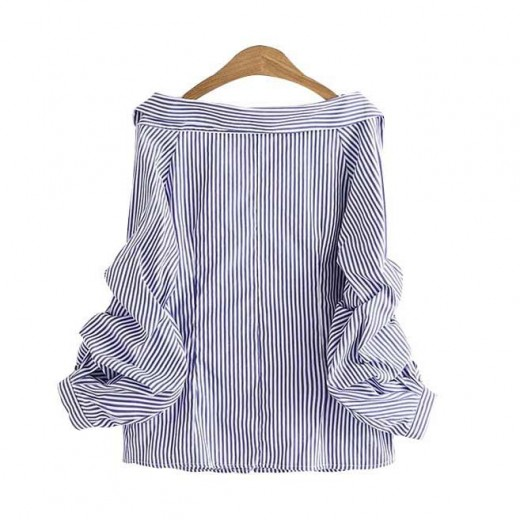'Selah' Deep Neckline Button Up Shirt