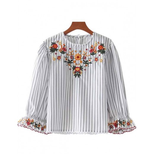 'Shelly' Floral Embroidered Blouse