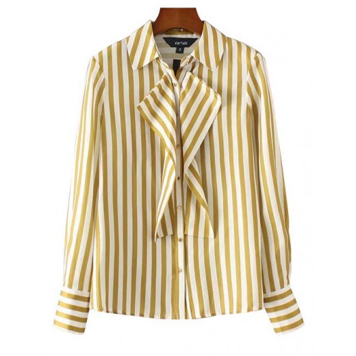 'Nanette' Striped Ruffles Shirt