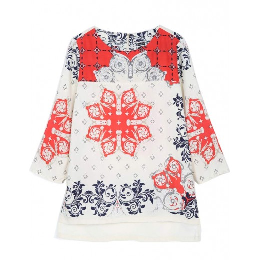 Floral Patterned Retro Blouse