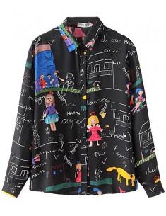 Cute Pattern Button Up Shirt