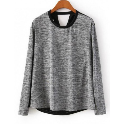 Draped Back Pullover