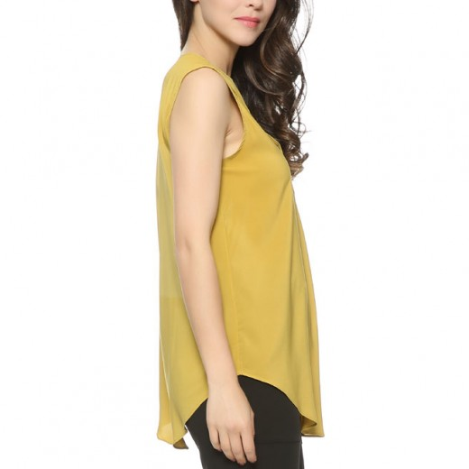 'Lucille' Sleeveless V Neck Blouse
