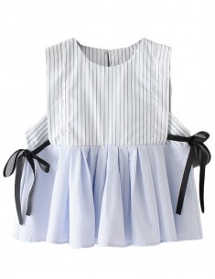 Sleeveless Cropped Peplum Blouse