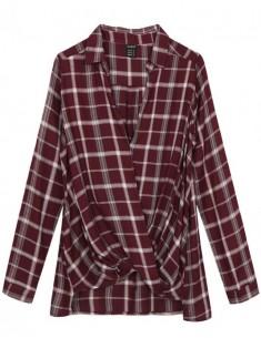 Wrap Soft Checked Shirt