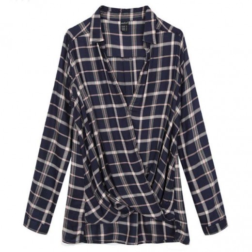 Wrap Soft Checked Shirt