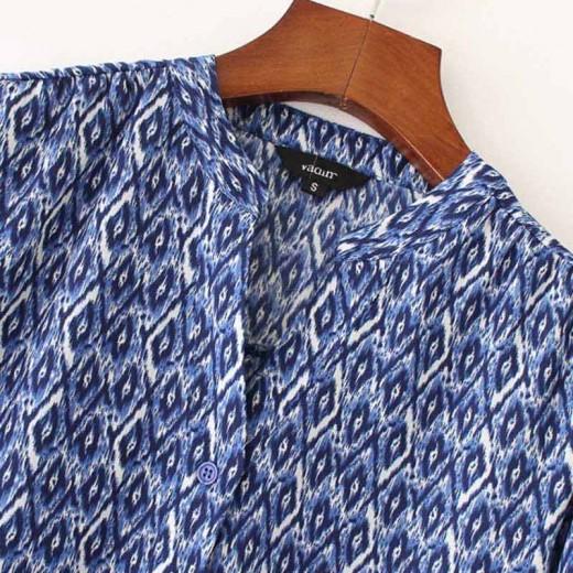 'Shonagh' Patterned Blue Shirt