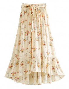 'Mia' Bottom Ruffle Floral Skirt