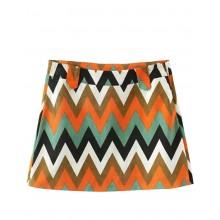 Bright Herringbone Pattern Mini Skirt