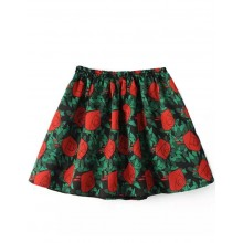 Bright Roses Elastic Waistband Skirt