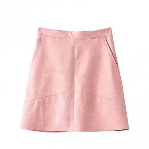 'Elliana' PU Leather Mini Skirt