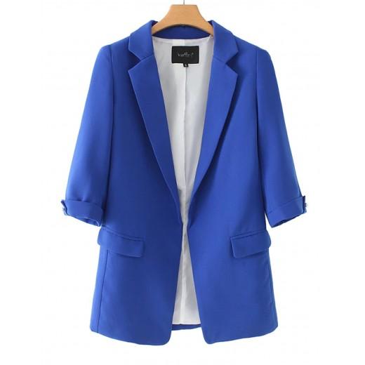 'Quinn' Oversized Blue Blazer