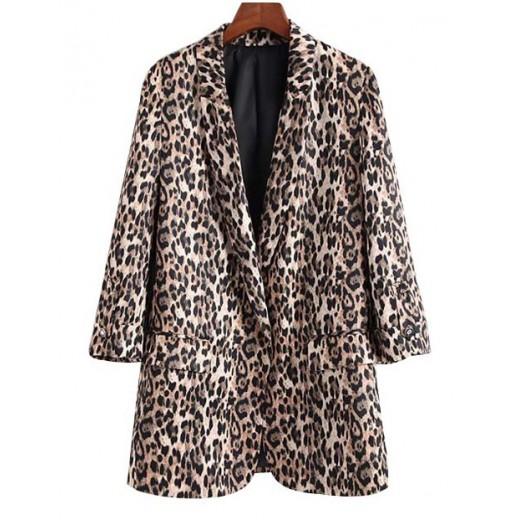 'Roxanne' Leopard Print Blazer