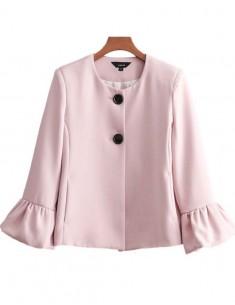 'Brodie' Flared Sleeve Pink Jacket