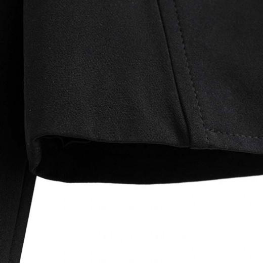 'Ashlyn' Elegant Black Buttons Jacket