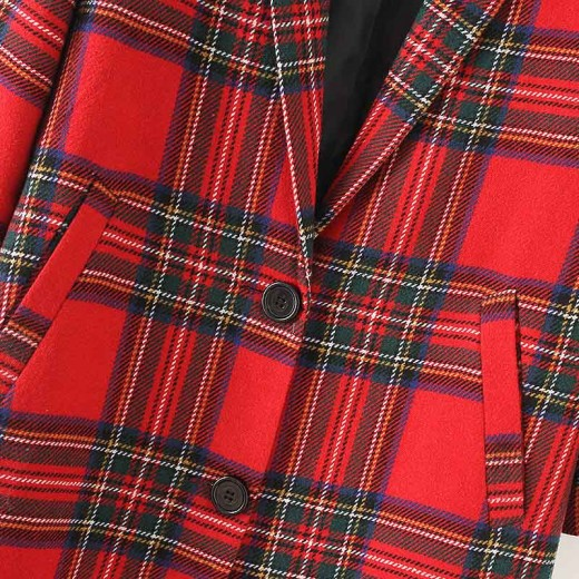 'Jasmine' Stylish Coat in Plaid