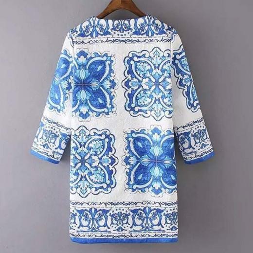 Porcelain Print Lightweight Coat