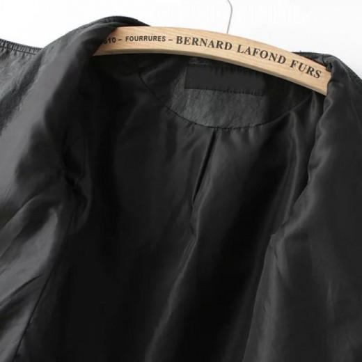 Black Fringed Crop Zippers Jacket