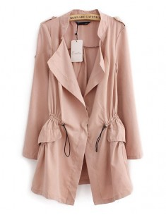 Lightweight Pastel Pink Trench Coat