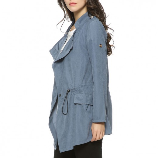 Lightweight Blue Trench Coat