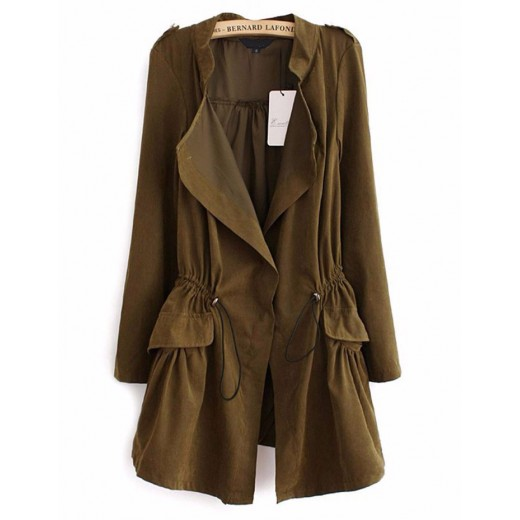 Lightweight Army Green Trench Coat